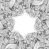 Fond floral monochrome de vecteur Photo libre de droits