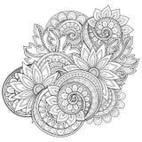 Fond floral monochrome de vecteur Image libre de droits