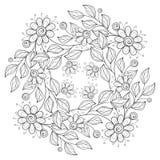 Fond floral monochrome de vecteur Photographie stock libre de droits