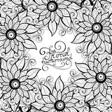 Fond floral monochrome de vecteur Photo stock