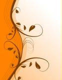 Fond floral orange Image libre de droits