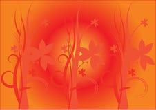 Fond floral orange Illustration de Vecteur