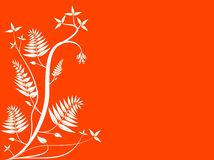 Fond floral orange abstrait Photographie stock libre de droits