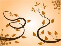 Fond floral orange-clair Image libre de droits