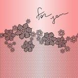 Fond floral de dentelle Image libre de droits
