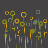 Fond floral, pavot illustration de vecteur