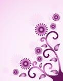 Fond floral pourpré Photographie stock