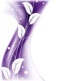 Fond floral pourpré Images libres de droits