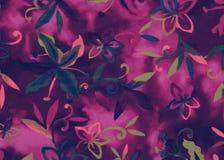 Fond floral pourpré abstrait. Photographie stock