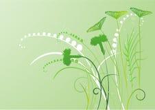 fond floral, pré illustration de vecteur