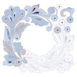 Fond floral rond (illustration) Image stock