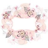 Fond floral rose de cadre Photos libres de droits