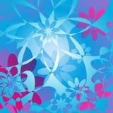 Fond floral - rose et bleu Photo libre de droits