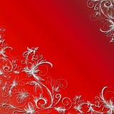 Fond floral rouge Illustration Stock