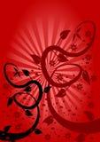 Fond floral rouge Images libres de droits