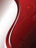 Fond floral rouge Image libre de droits