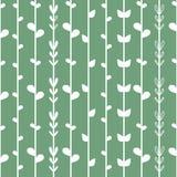 Fond floral sans couture avec des ficelles blanches d'herbe sur la lumière - bleu - fond vert Modèle de lierre illustration libre de droits