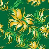 Fond floral sans couture de modèle - illustration Images libres de droits