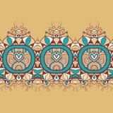 Fond floral sans couture horizontal Photo libre de droits