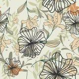 Fond floral sans joint Photo libre de droits