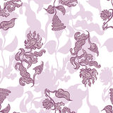 Fond floral sans joint Images stock