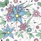 Fond floral sans joint Modèle de textile ou de papier peint illustration libre de droits
