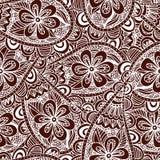 Fond floral sans joint Modèle ethnique de conception de griffonnage Ornement abstrait de henné Photos libres de droits