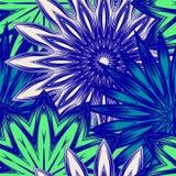 Fond floral sans joint Modèle ethnique de contexte de tissu de nature faite main de filigrane avec des fleurs Vecteur Photographie stock libre de droits
