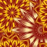 Fond floral sans joint Modèle ethnique de contexte de tissu de nature faite main de filigrane avec des fleurs Vecteur Photo libre de droits