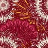 Fond floral sans joint Modèle ethnique de contexte de tissu de nature faite main de filigrane avec des fleurs Vecteur Photographie stock