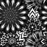 Fond floral sans joint Modèle fait main de contexte de nature de filigrane avec des fleurs Art binaire décoratif Vecteur Images stock