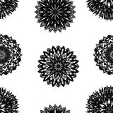 Fond floral sans joint Modèle fait main de contexte de tissu de nature de filigrane avec des fleurs Vecteur Photographie stock libre de droits