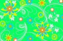 Fond floral vert de configuration Photographie stock libre de droits