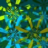 Fond floral - vert et bleu illustration libre de droits