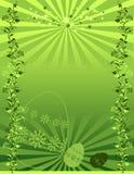Fond floral vert illustré Photo libre de droits