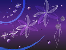 Fond floral violet illustration libre de droits