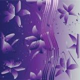 Fond floral violet Images stock