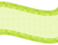 Fond folklorique vert clair de Swoosh Image stock
