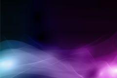 Fond foncé abstrait avec le profil onduleux mou Image libre de droits