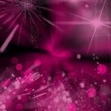 Fond foncé avec les lumières roses Images libres de droits
