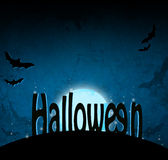 Fond foncé bleu de Halloween Images stock