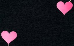 Fond foncé de coeur avec l'espace vide vide gratuit de copie Image libre de droits