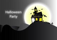 Fond foncé de maison de Halloween illustration libre de droits