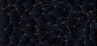Fond foncé de polygone Photo libre de droits