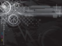 Fond foncé de technologie illustration stock