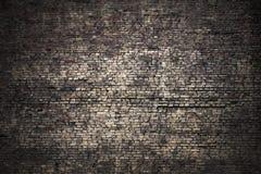 Fond foncé grunge de brique Image libre de droits