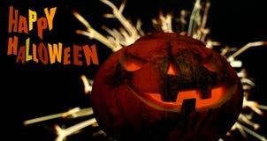 Fond foncé heureux de Halloween avec des étincelles Image libre de droits