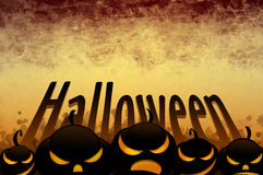 Fond foncé jaune de Halloween Image stock