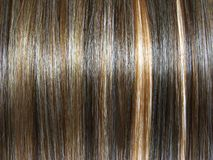 Fond foncé de texture de cheveu de point culminant Images libres de droits