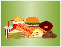 Fond frais délicieux de menu d'aliments de préparation rapide illustration stock